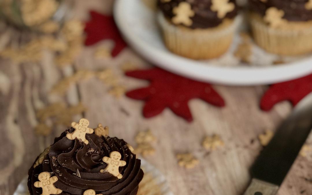 Cupcakes de Noël au vin rouge
