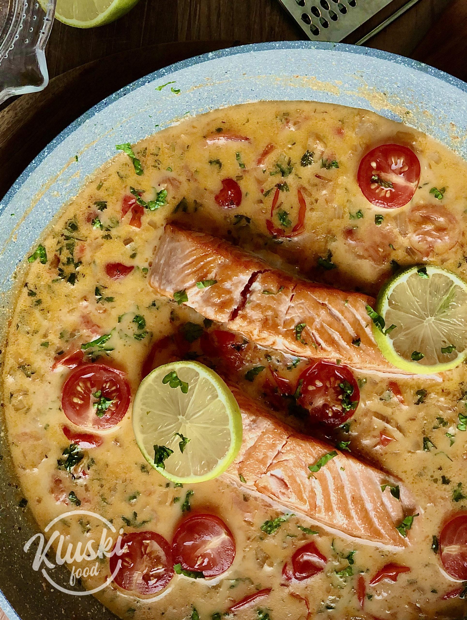 Pavés de saumon au lait de coco