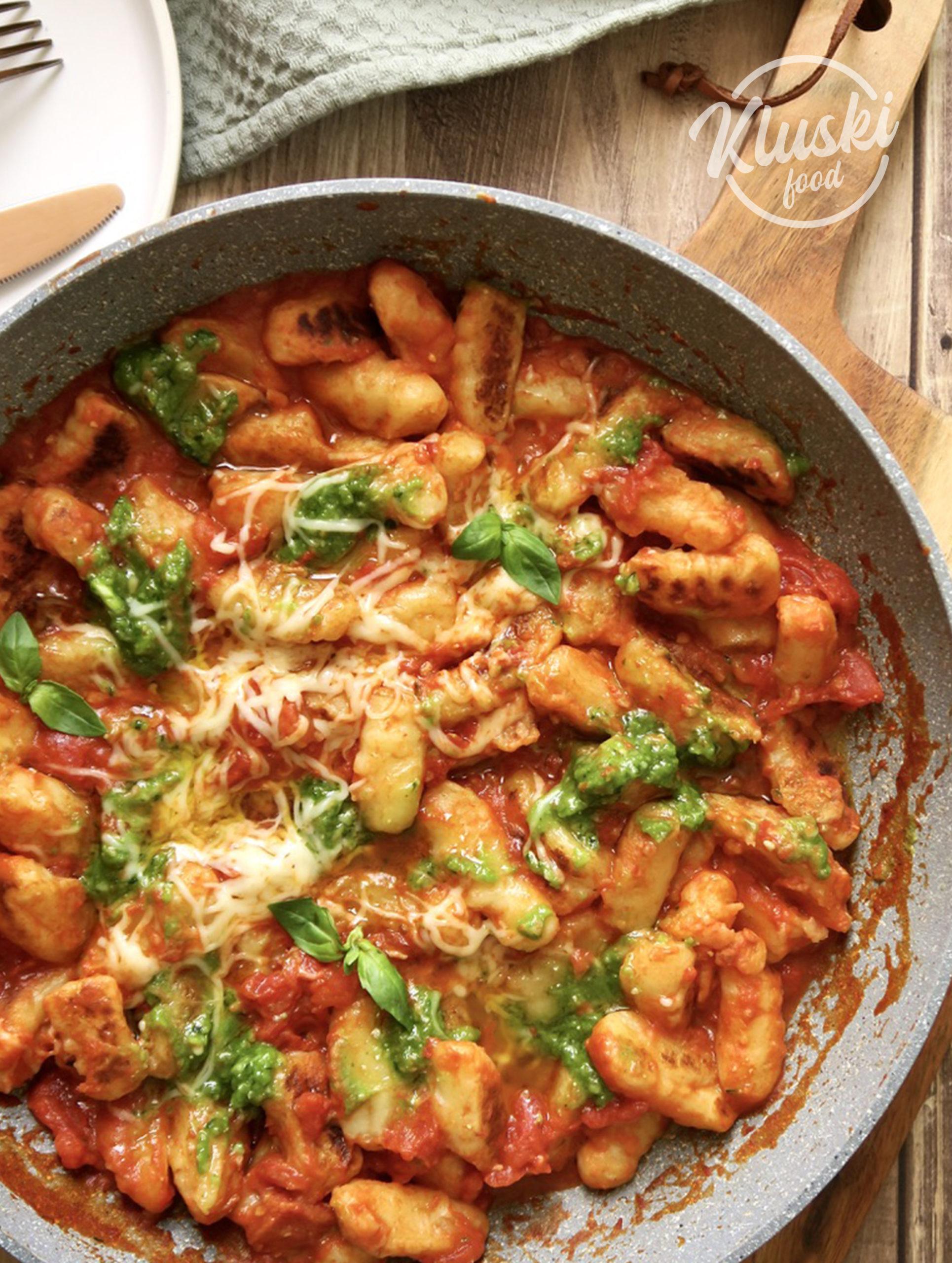Gnocchi sauce tomate et pesto maison